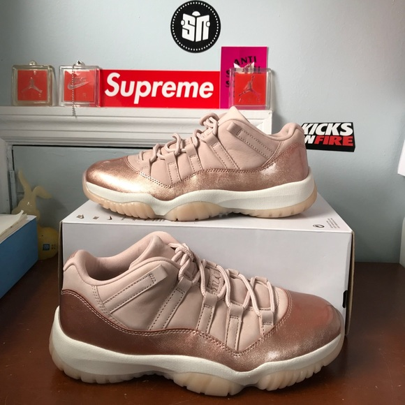 1202b0201e9de Air Jordan 11 retro low rose gold size 9 women s